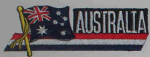Australia Embroidered Flag Patch, style 01.